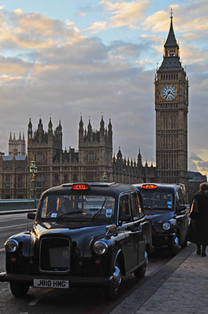 Big Ben and London Cab